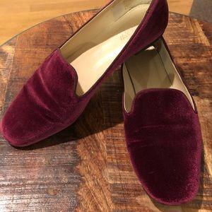 J Crew Georgie Purple Loafers